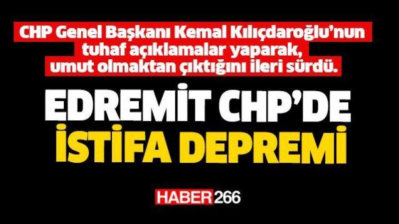 Edremit CHP'de istifa şoku, zehir zemberek açıklama!