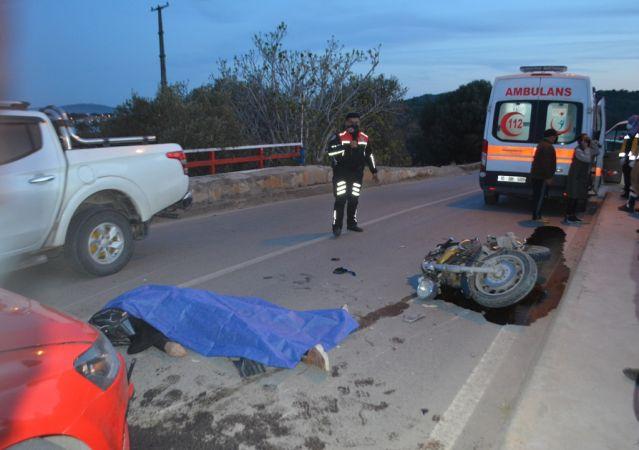 Köprüde trafik kazası, motor sürücüsü hayatını kaybetti
