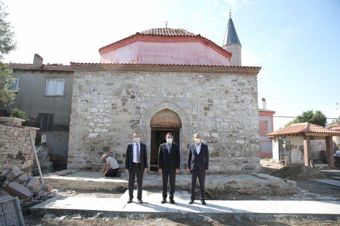 Altınova'nın tarihi Kadı Camii'nde son viraj
