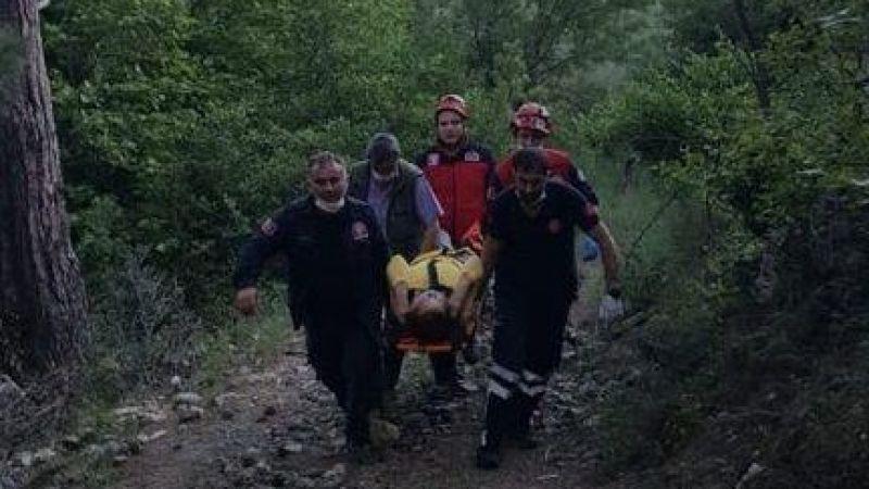 70 Yaşındaki kadın, 20 metreden dereye düştü