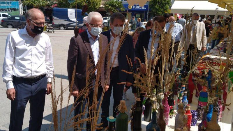Özel öğrenciler Burhaniye'de sergi açtı