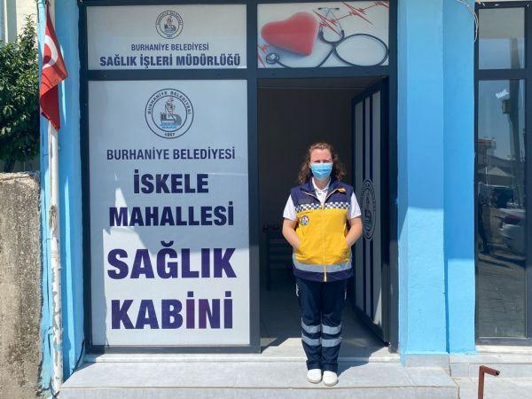 Burhaniye'de sağlık kabinleri açıldı