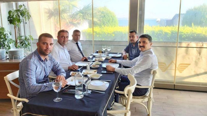 Kaymakam Ünsal, siyasi parti ilçe başkanları ile bir araya geldi