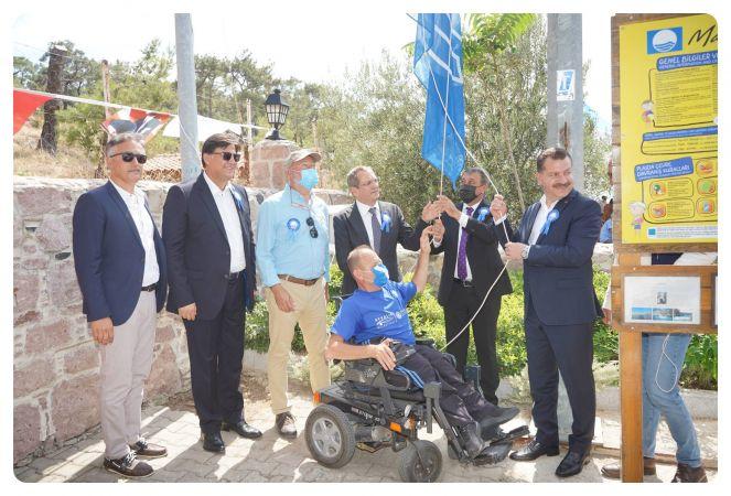 Ulusal Mavi Bayrak Töreni Ayvalık'ta sahiplerini buldu