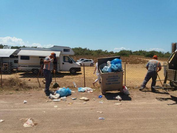 Ayvalık'ta 1 günde 240 ton çöp