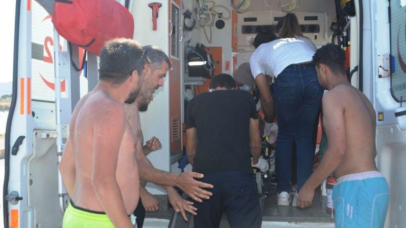 Halk plajında boğulmak üzere olan vatandaş son anda kurtarıldı