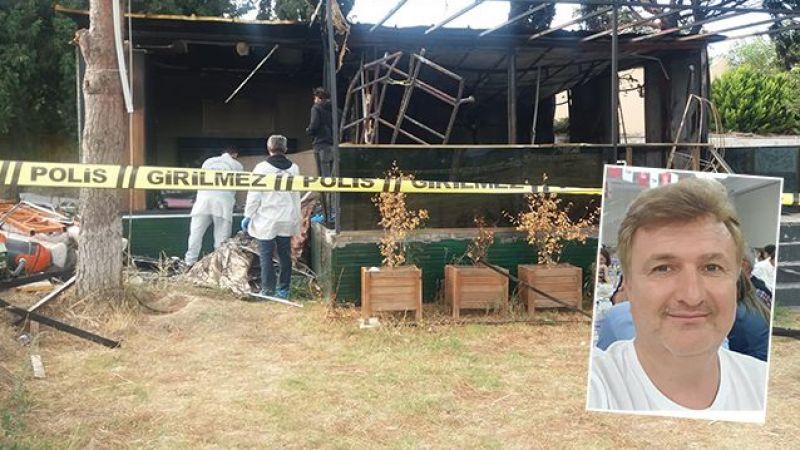 Burhaniye'de işadamı Nazif Baran yanarak can verdi