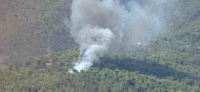 Cikcilli'de 2 dönüm orman yandı