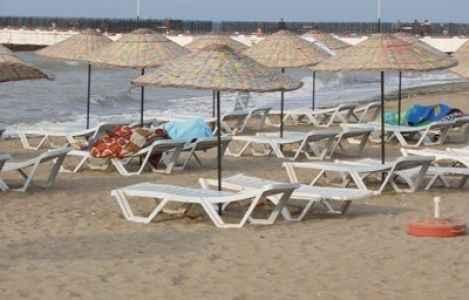 Plajda şoke eden hırsızlık