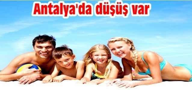 Antalya'da düşüş var