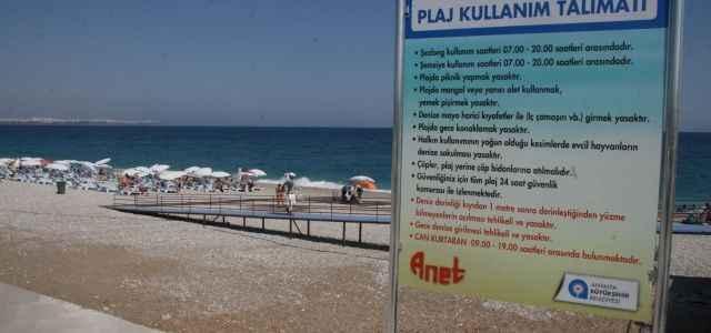 Sahilde plaj kullanım kılavuzu