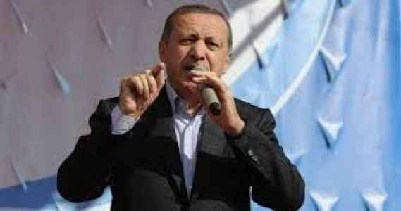 Erdoğan mitingi yarıda kesti