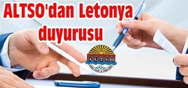 ALTSO'dan Letonya duyurusu