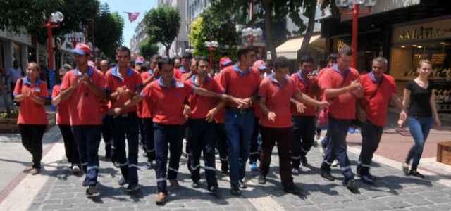 110 işçiden protesto yürüyüşü