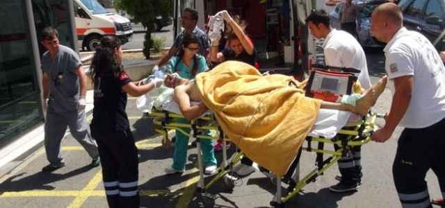 Önce vurdu sonra hastaneye götürdü