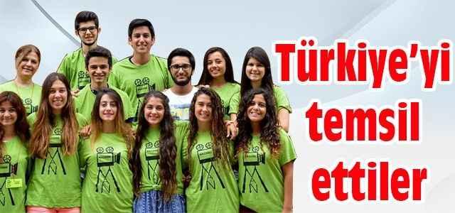 Türkiye'yi temsil ettiler