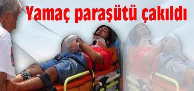 Yamaç paraşütü yapan 2 kişi kayalıklara çakıldı