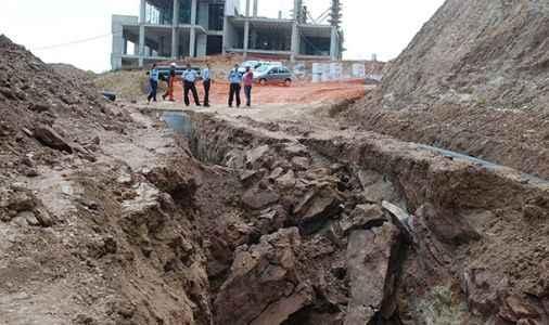 Üniversite inşaatında çökme: 1 ölü 1 yaralı