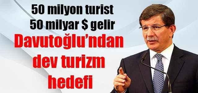 Davutoğlu'ndan dev turizm hedefi