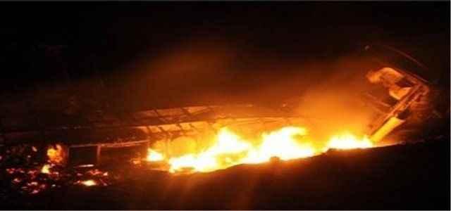 PKK'lılar baz istasyonunu yaktı