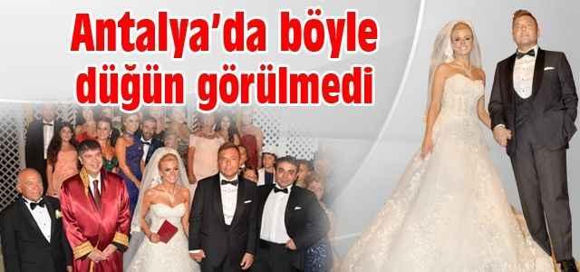 Antalya böyle düğün görmedi