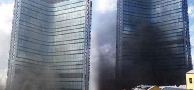 Dev otelde korkutan yangın