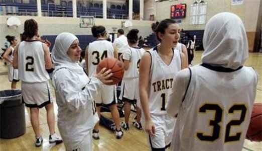 Basketbol sahasında başörtüsüne izin