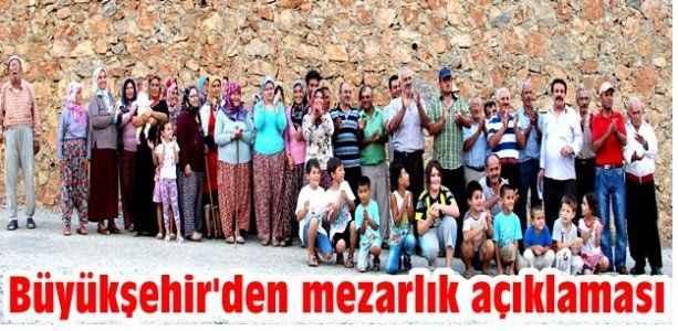 Büyükşehir'den 'Mezarlık' açıklaması