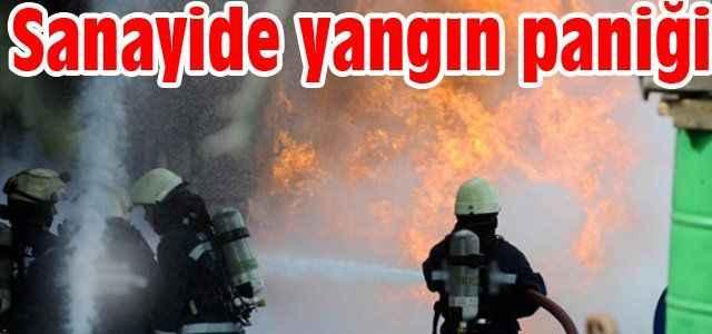 Sanayide yangın paniği