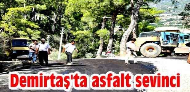 Demirtaş'ta asfalt sevinci