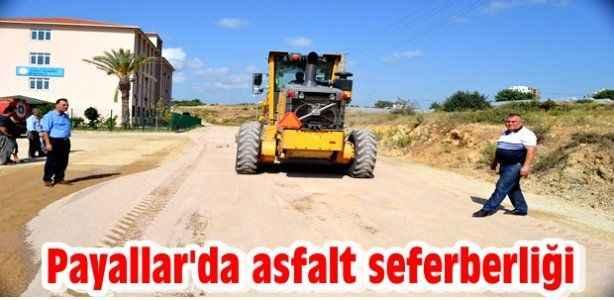 Payallar'da asfalt seferberliği