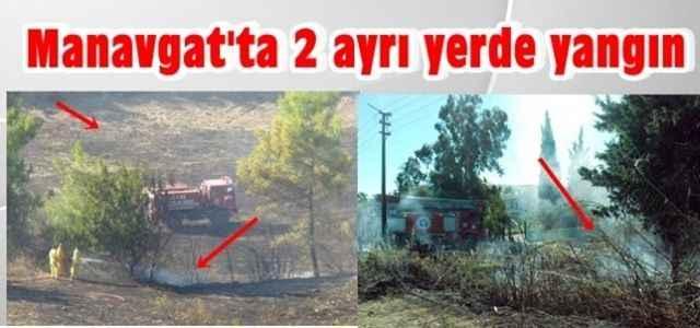 Manavgat'ta 2 ayrı yerde yangın