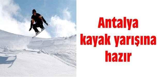 Antalya kayak yarışına hazır