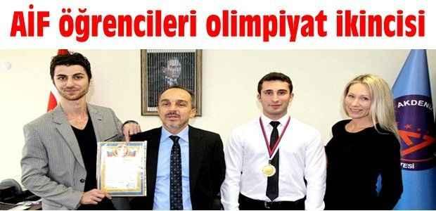 AİF öğrencileri olimpiyat ikincisi