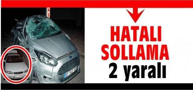 Antalya'da hatalı sollama kazası: 2 yaralı