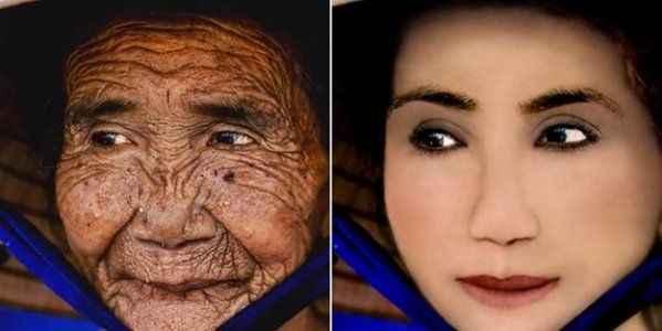 100 yaşındaki kadını 6 dakikada bakın ne hale getirdiler