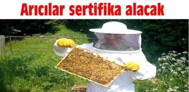 Arıcılar sertifika alacak