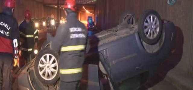2 araç takla attı: 4 yaralı