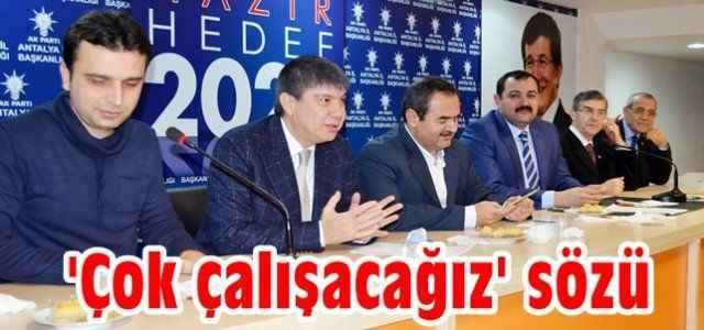 AKP'li başkandan 'çok çalışacağız' sözü