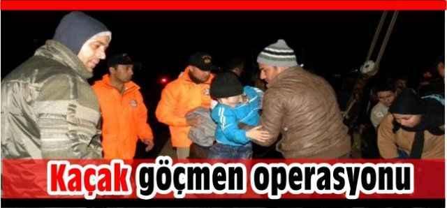 Gazipaşa'da gece yarısı operasyonu: 100 kaçak yakalandı