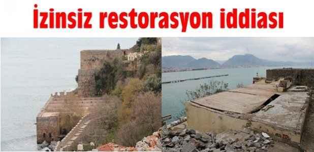 İzinsiz restorasyon iddiası
