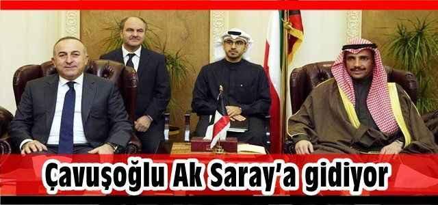 Çavuşoğlu Ak Saray'a gidiyor