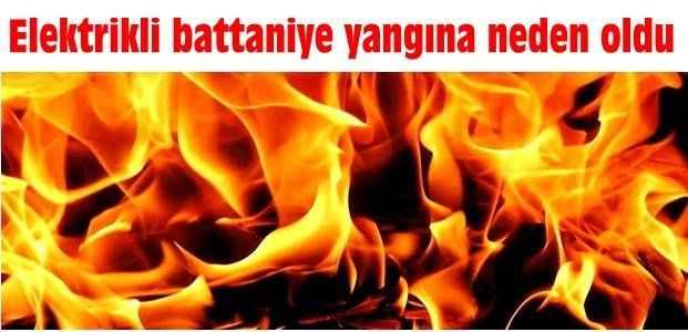 Elektrikli battaniye yangına neden oldu