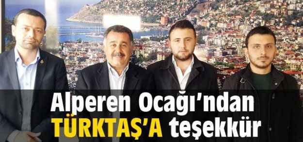 Alperen Ocağı'ndan Türktaş'a teşekkür