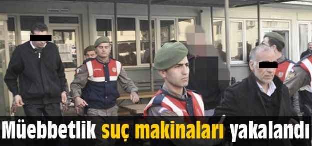 Manavgat'ta müebbetlik suç makinaları yakalandı