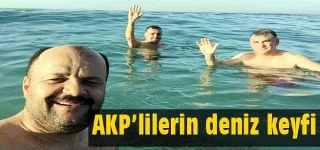 AKP'lilerin deniz keyfi