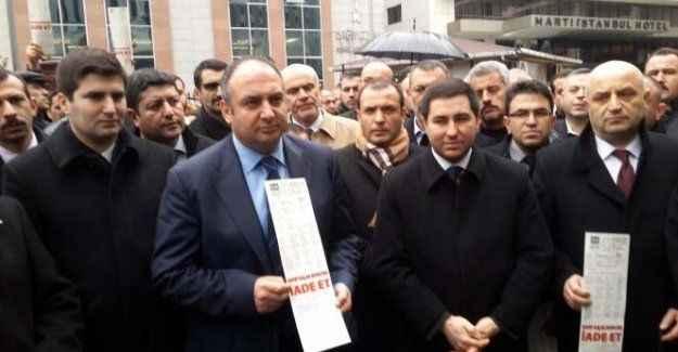 MHP'lilerden BEDAŞ önünde eylem