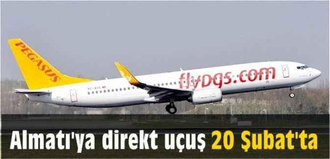 Almatı'ya direkt uçuş 20 Şubat'ta
