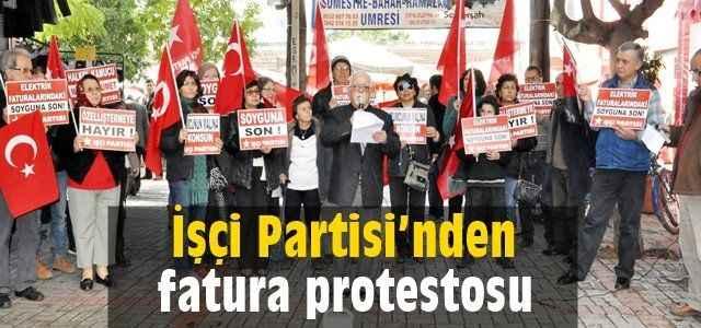 İşçi Partisi'nden fatura protestosu