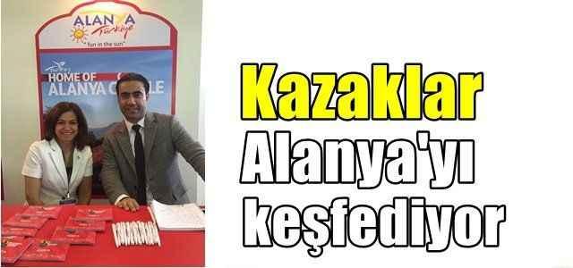Kazaklar Alanya'yı keşfediyor